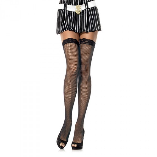 Hosiery Fishnet Stockings Black Plus Size Leg Avenue