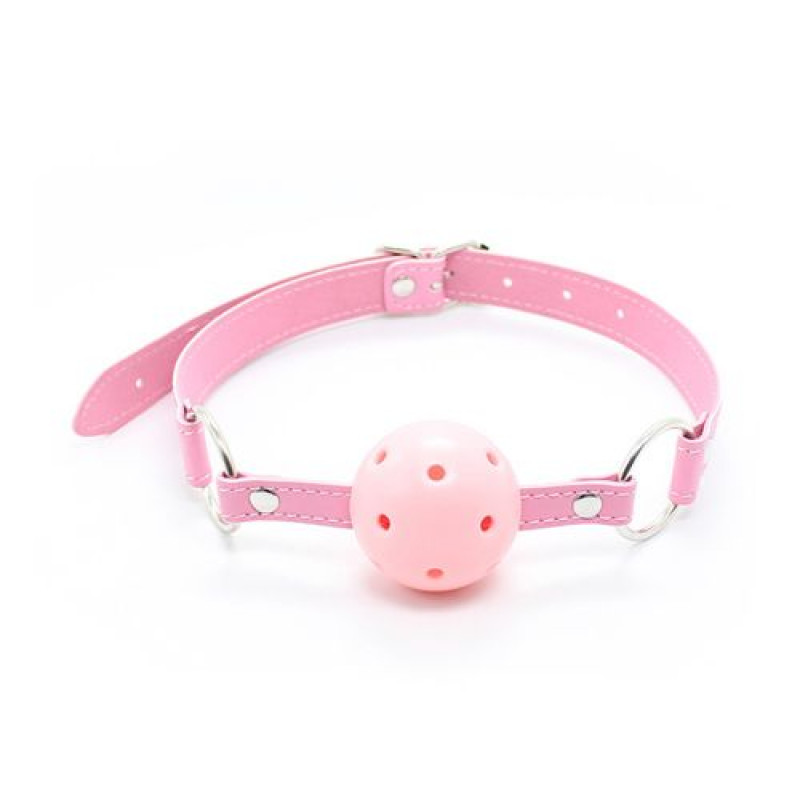 Breathable Ball Gag Pink Toyz4Lovers