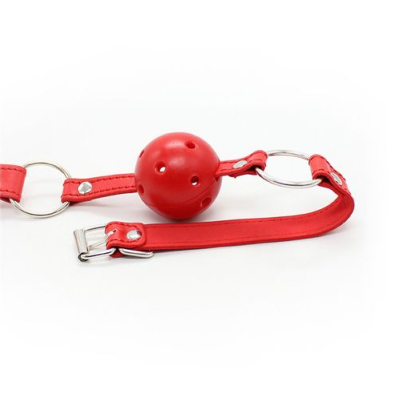 Breathable Ball Gag Red Toyz4Lovers