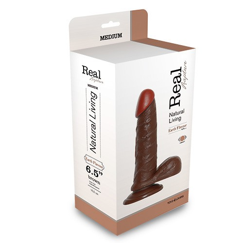 REALISTIC VIBRATOR REAL RAPTURE BROWN 6.5 Toyz4Lovers