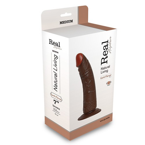 REALISTIC VIBRATOR REAL RAPTURE BROWN 7 Toyz4Lovers