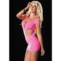 SEAMLESS CUT OUT NEON PINK Leg Avenue